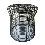 Round Metal Patio Side Table