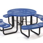 Round Metal Picnic Tables