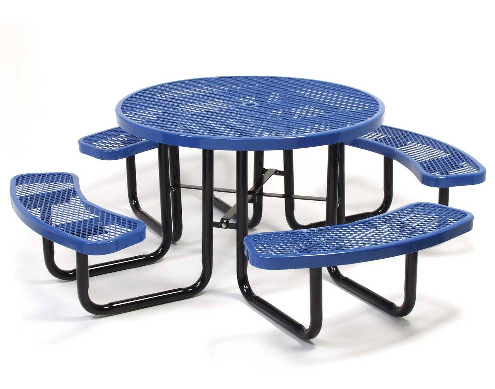 Picture of: Round Metal Picnic Tables