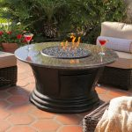 Round Patio Coffee Table Propane Fire Pit