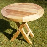 Round Patio Coffee Table Wood