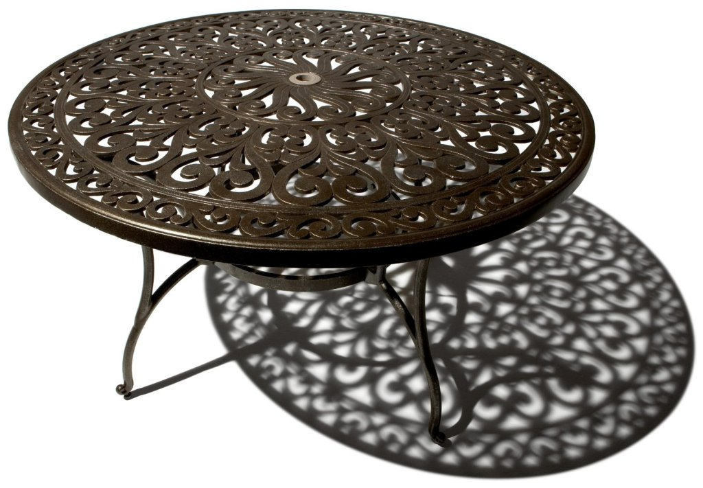Picture of: Round Patio Dining Table Design