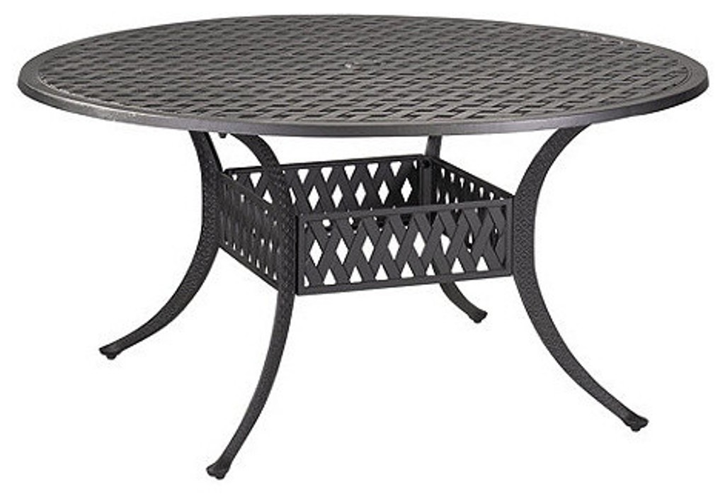 Picture of: Round Patio Dining Table Glass Top