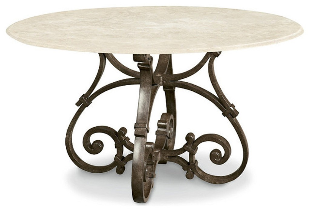 Picture of: Round Patio Dining Table with Fire Pit
