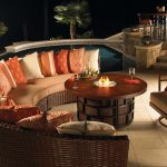 Round Patio Table With Firepit
