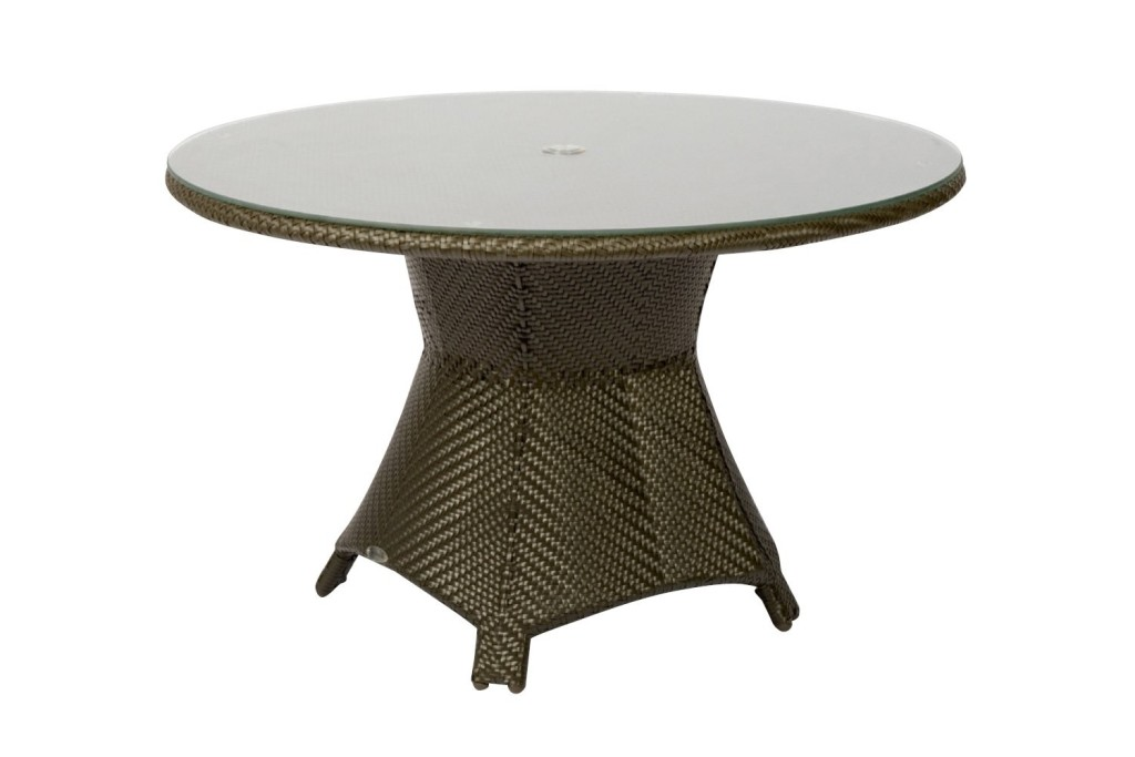 Picture of: Round Wicker Patio Dining Table