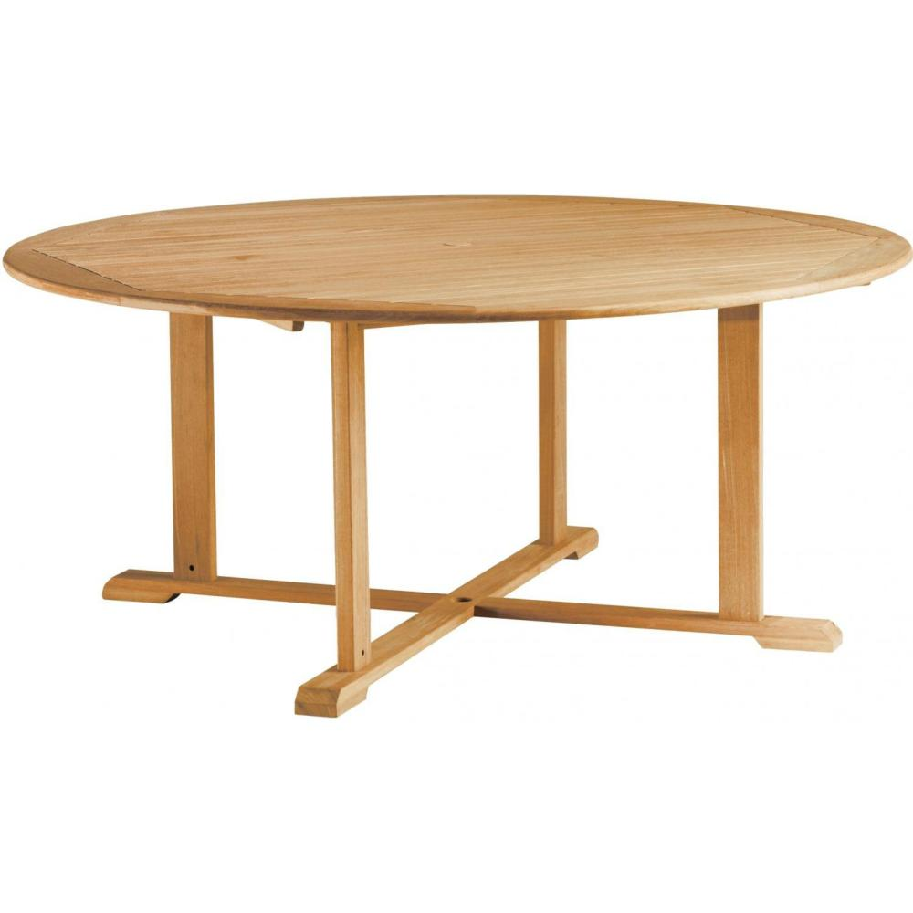 Image of: Round Wood Patio Dining Table
