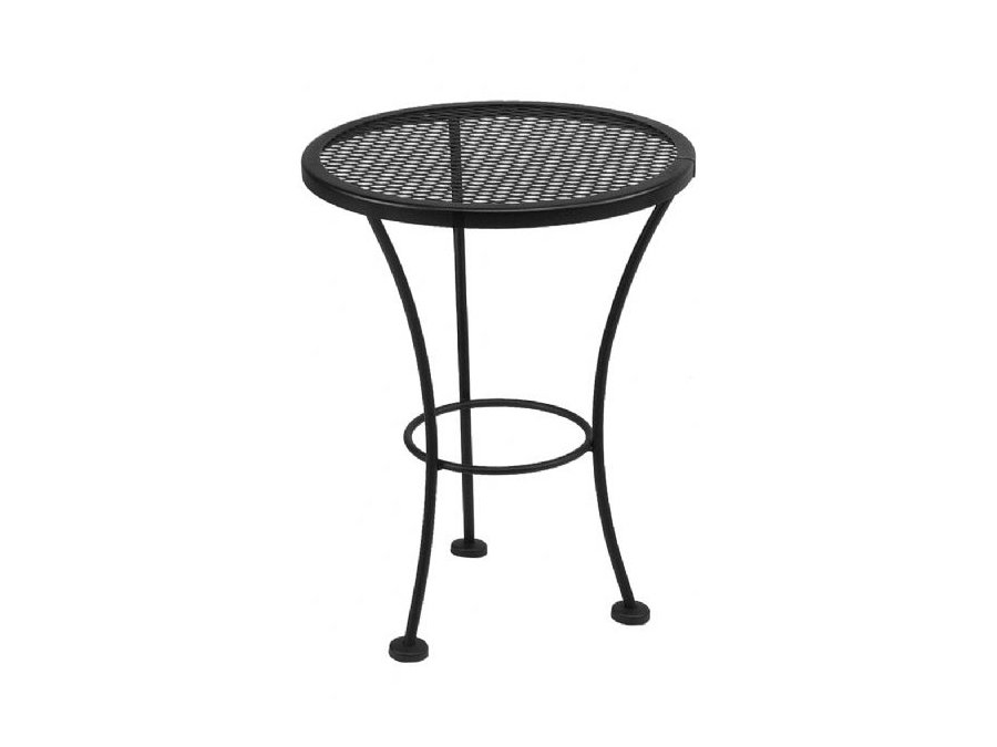 Picture of: Round Wrought Iron Patio Coffee Table