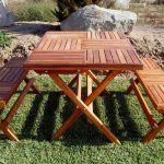 Rustic Folding Picnic Table Bench