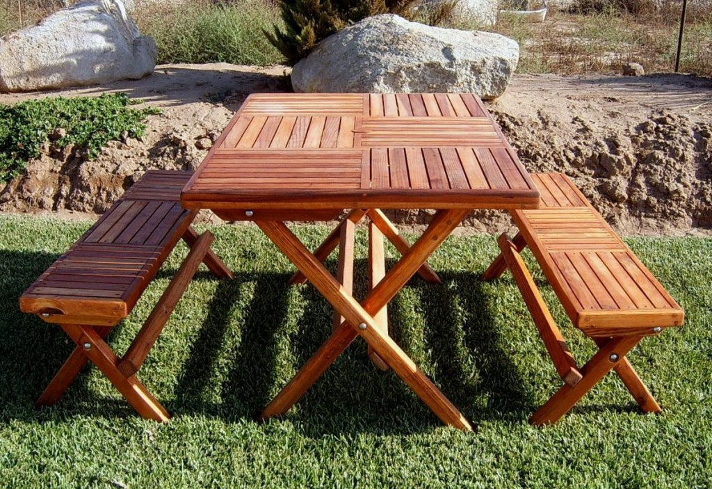 Picture of: Rustic Folding Picnic Table