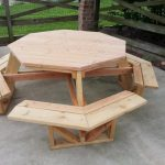 Solid Wood Octagon Picnic Table