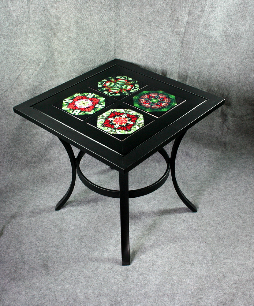 Image of: Square Metal Patio Coffee Table