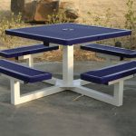Square Metal Picnic Tables