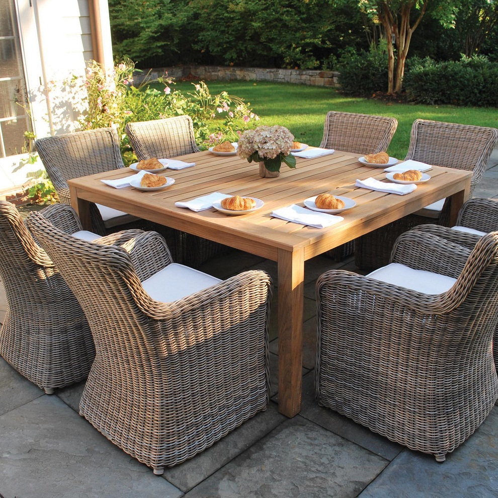 Square Patio Dining Table Wooden