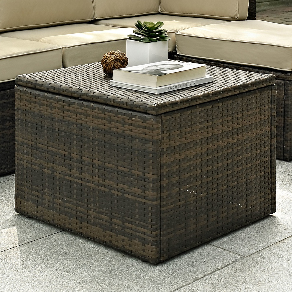 Picture of: Square Wicker Patio Coffee Table