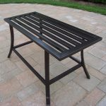 Square Wrought Iron Patio Coffee Table