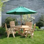 Stylish Picnic Table With Umbrella