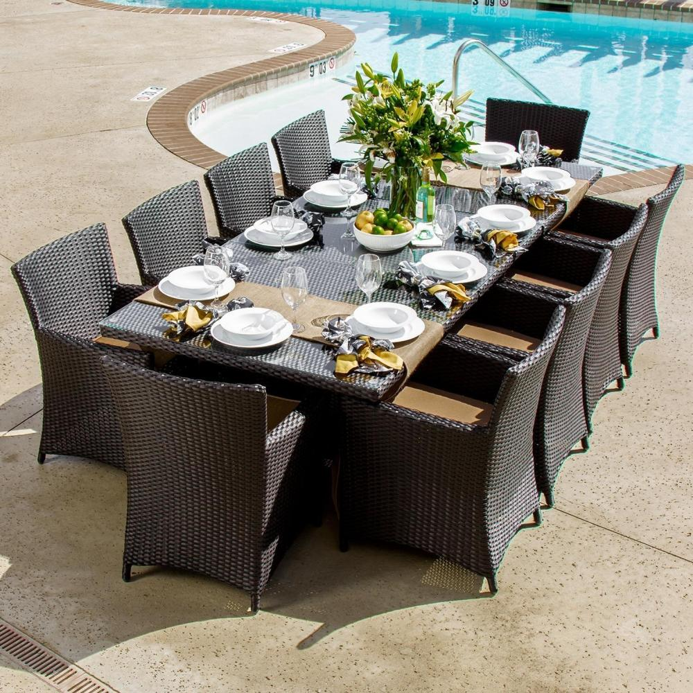 Picture of: Stylish Wicker Patio Dining Table Set