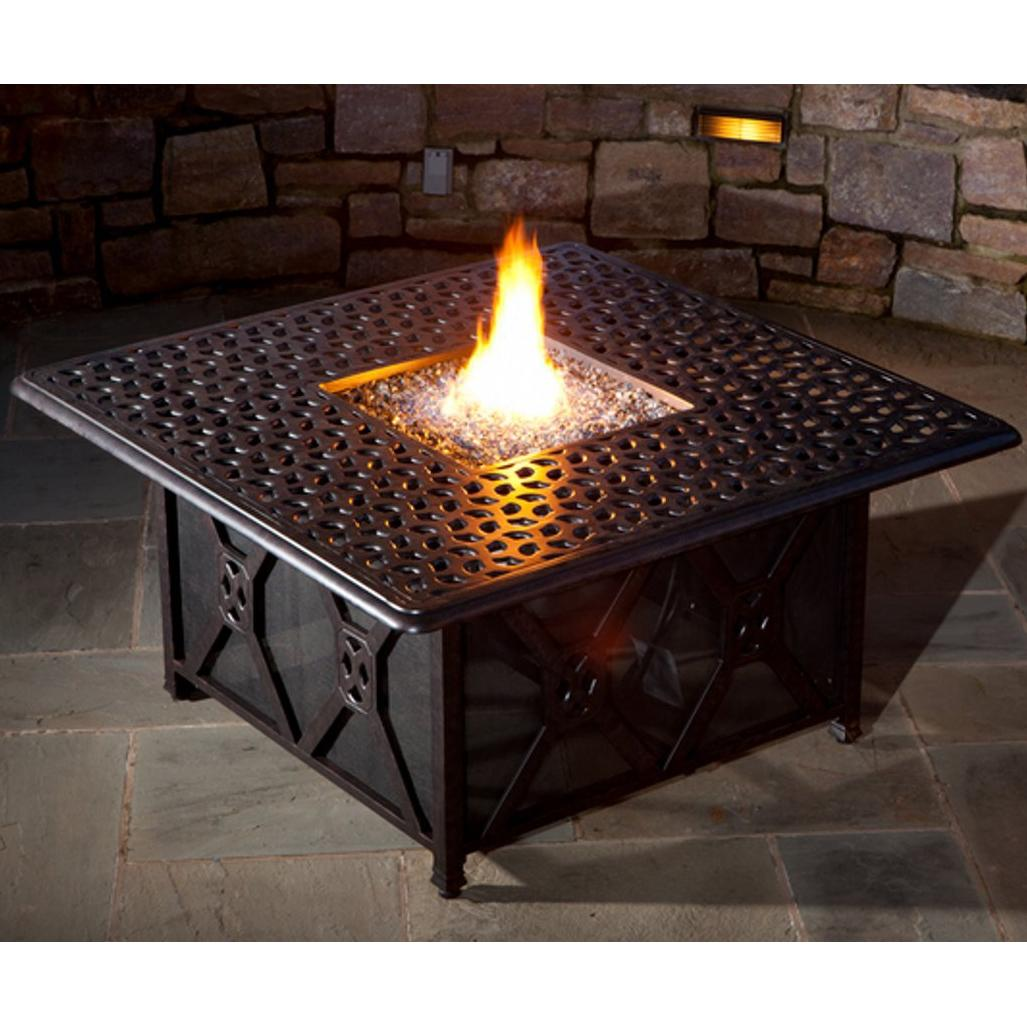 Image of: Table with Fire Pit Decorative