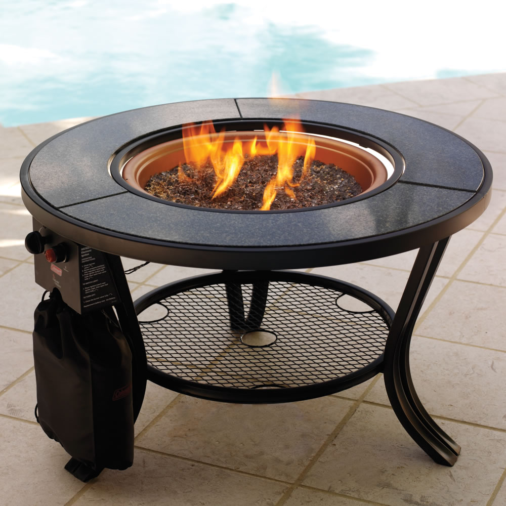 Image of: Table with Fire Pit Idea