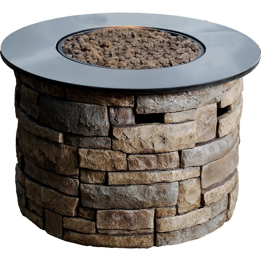 Image of: Table with Fire Pit Model