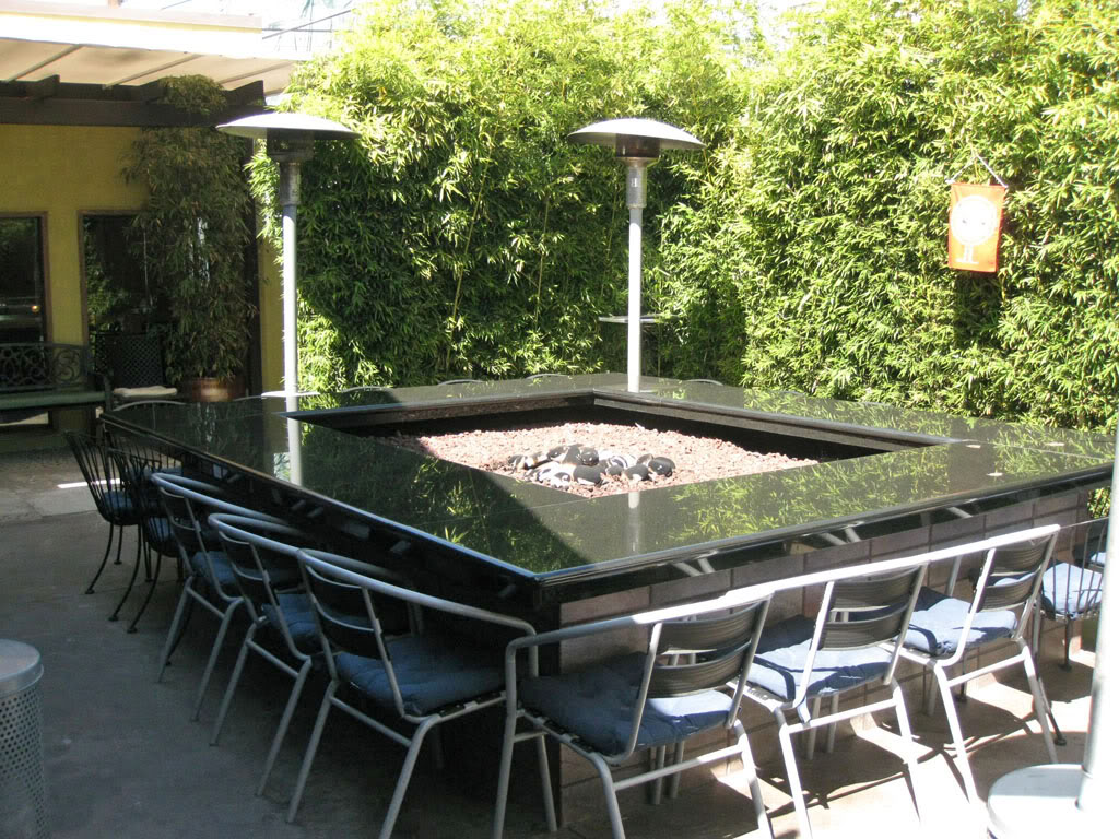Image of: Table with Fire Pit Picture