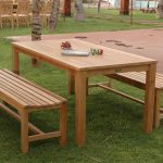 Teak Patio Dining Table with Bench