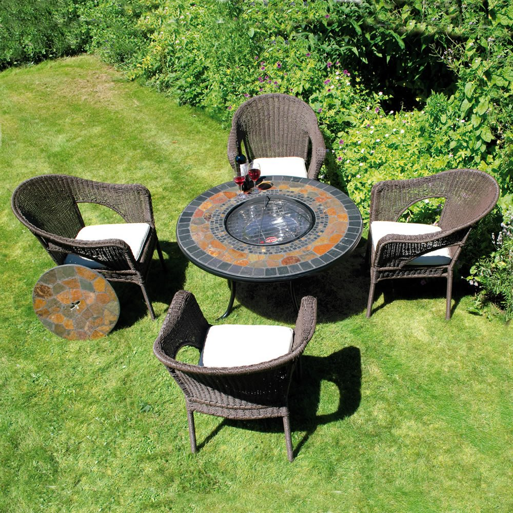 Top Firepit Dining Table