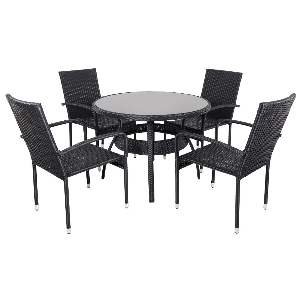 Picture of: Top Wicker Patio Dining Table