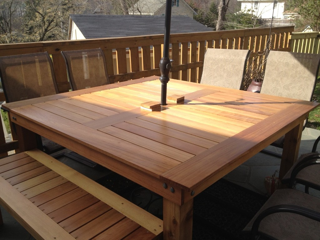 Image of: Top Wood Patio Dining Table