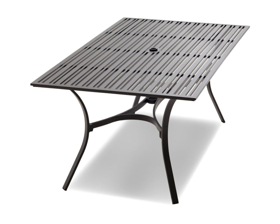 Image of: Unique Rectangular Patio Dining Table