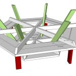 White Octagon Picnic Table