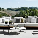 White Outdoor Patio Coffee Table