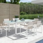 White Patio Dining Table For 10
