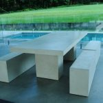 White Patio Dining Table For 6