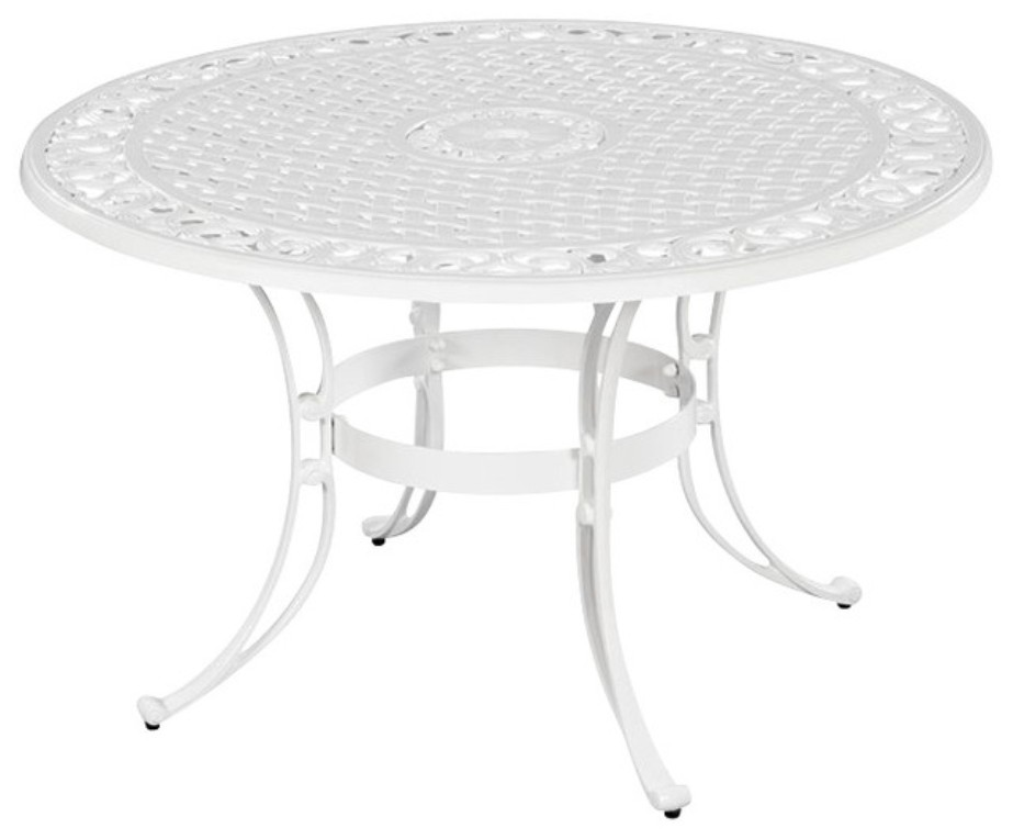 Picture of: White Patio Dining Table For 8