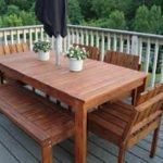 White Patio Dining Table Set