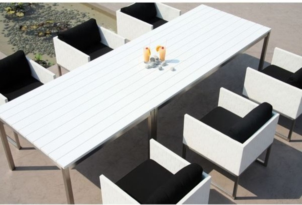 Picture of: White Patio Dining Table for Home