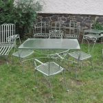 White Wrought Iron Patio Dining Table