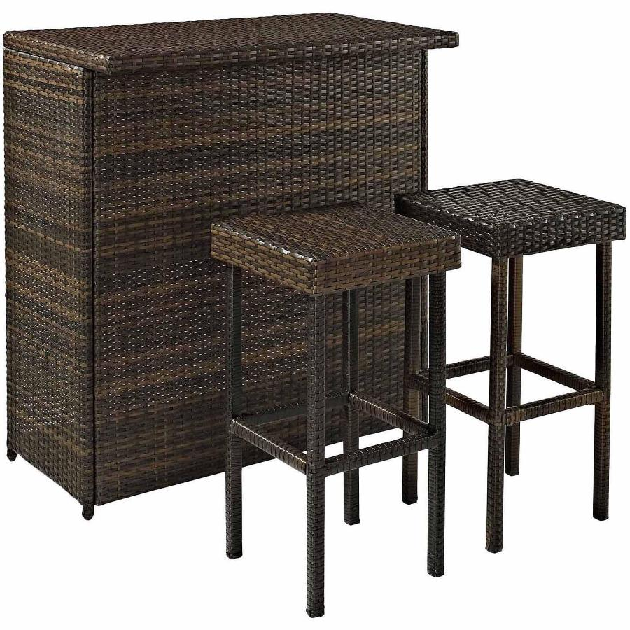 Picture of: Wicker Outdoor Bar Patio Table