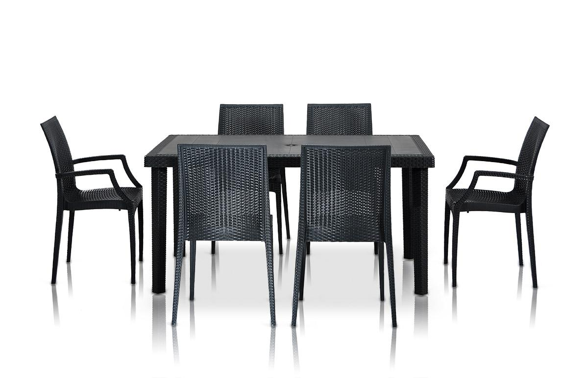 Picture of: Wicker Patio Dining Table Set