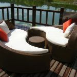 Wicker Round Patio Coffee Table