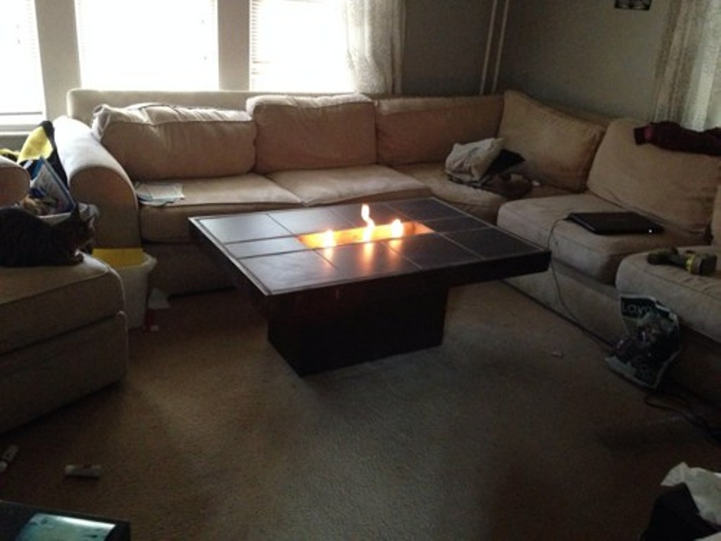 Picture of: Wonderful Firepit Coffee Table