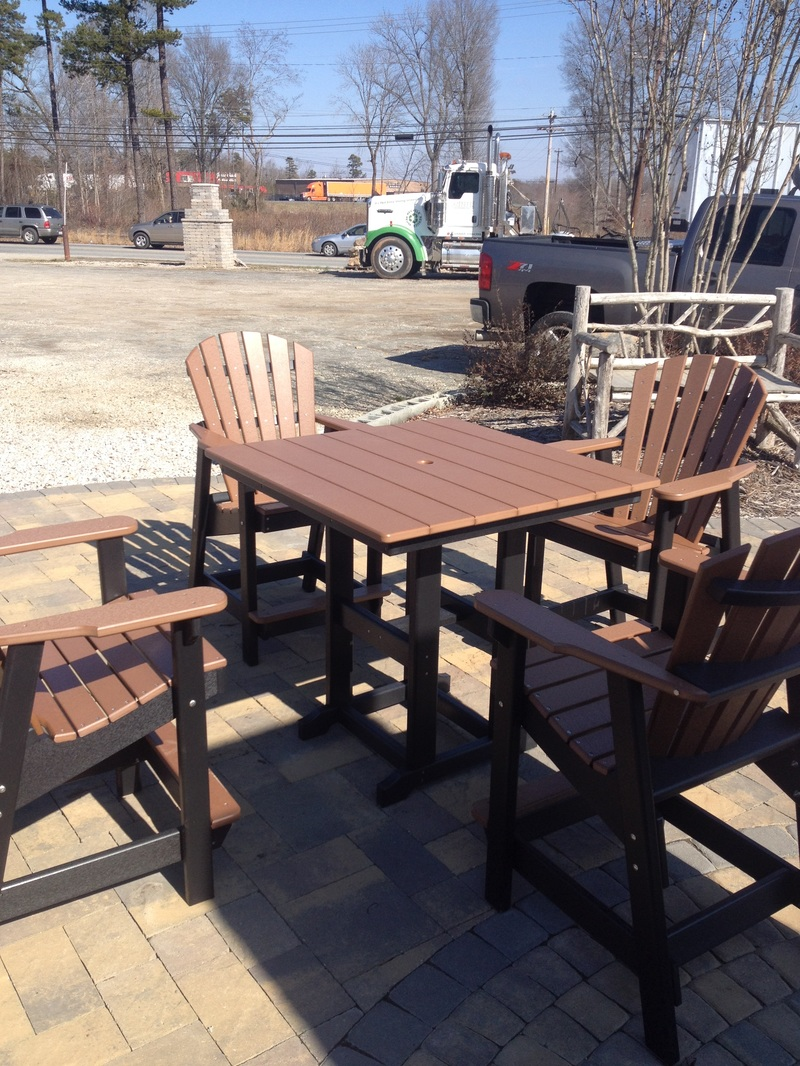 Image of: Wood Bar Height Patio Table Set