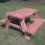 Wood Cedar Picnic Table