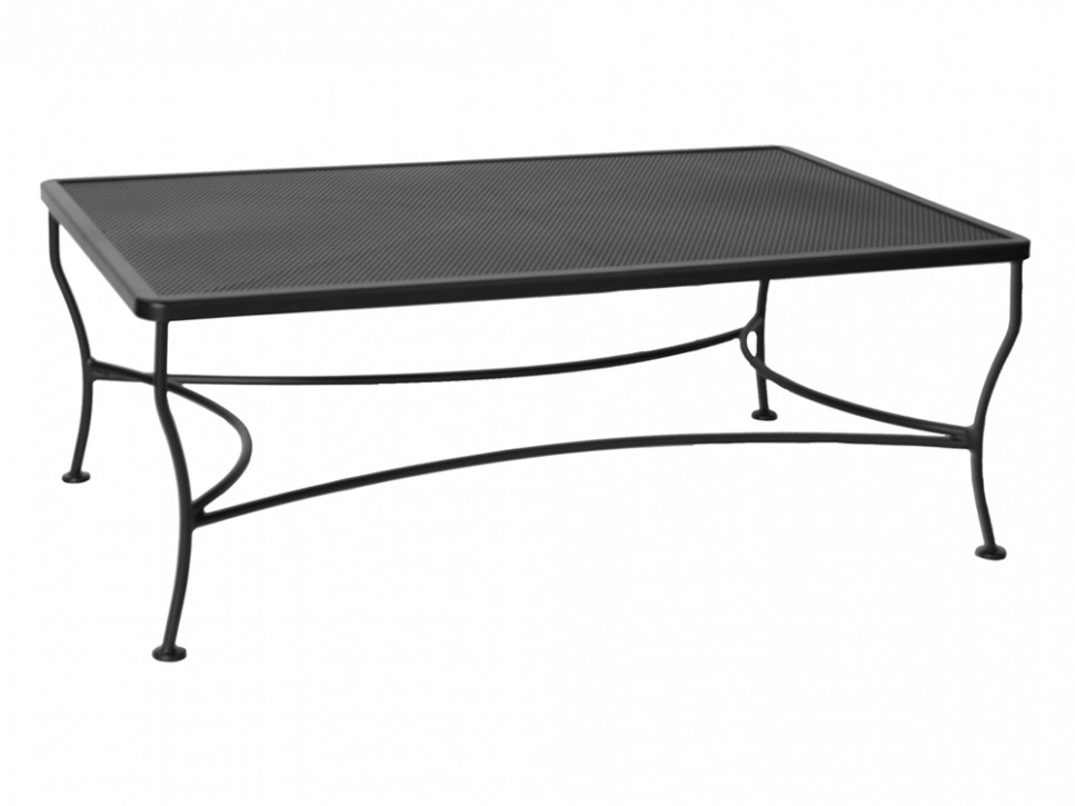 Picture of: Wrought Iron Patio Coffee Table Design