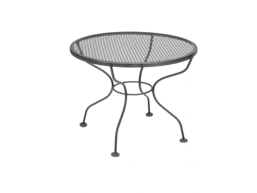 Picture of: Wrought Iron Patio Coffee Table Ideas Black Round