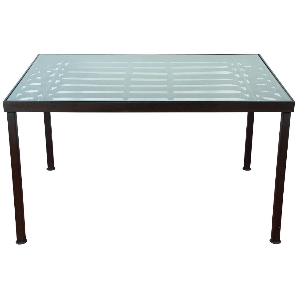 Picture of: Wrought Iron Patio Coffee Table Plan