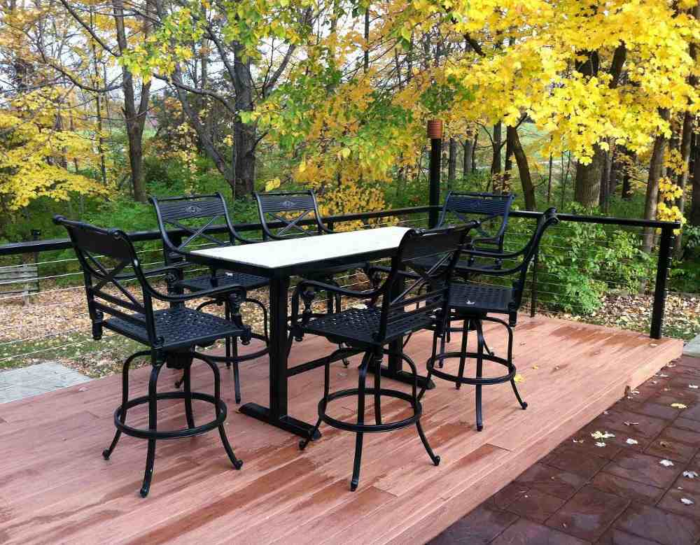 Picture of: Wrought Iron Patio Dining Table Ideas
