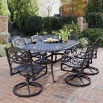 Wrought Iron Patio Dining Table Set